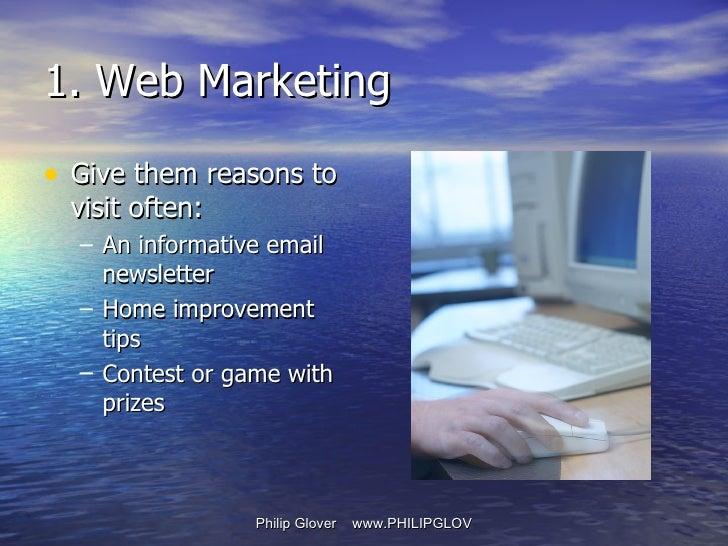 <ul><li>Give them reasons to visit often: </li></ul><ul><ul><li>An informative email newsletter </li></ul></ul><ul><ul><li...