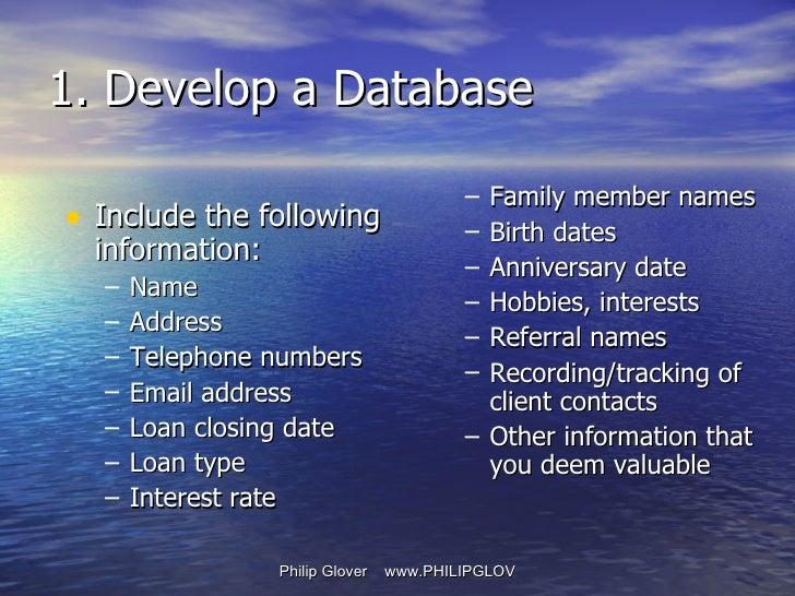 <ul><li>Include the following information: </li></ul><ul><ul><li>Name </li></ul></ul><ul><ul><li>Address </li></ul></ul><u...