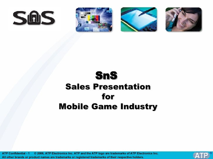 SnS  Sales Presentation for Mobile Game Industry