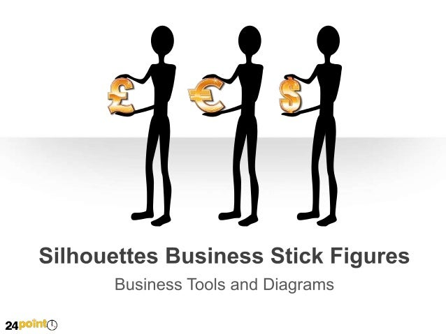 Silhouettes Business Stick Figures