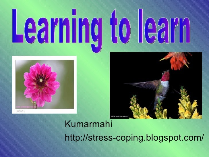 Kumarmahi http://stress-coping.blogspot.com/ Learning to learn