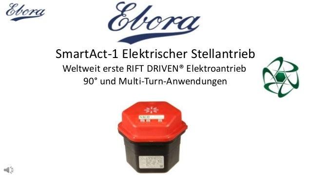 SmartAct-1 Elektrischer Stellantrieb Weltweit erste RIFT DRIVEN® Elektroantrieb 90° und Multi-Turn-Anwendungen