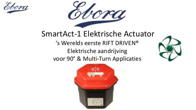 SmartAct-1 Elektrische Actuator 's Werelds eerste RIFT DRIVEN® Elektrische aandrijving voor 90° & Multi-Turn Applicaties