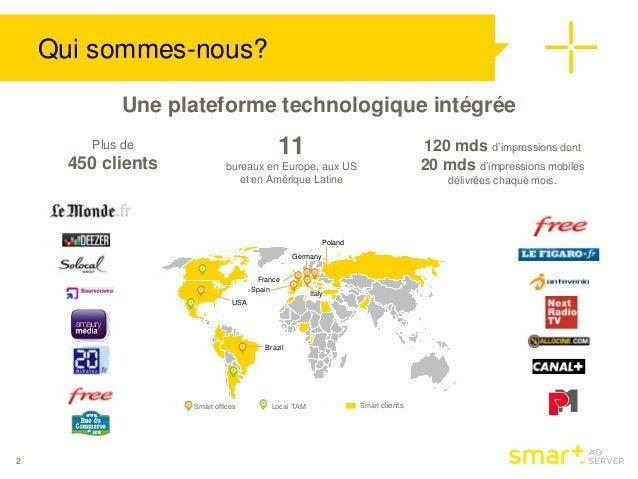 Qui sommes-nous?  2  Une plateforme technologique intégrée  Spain  Germany  Poland  France  Brazil  Smart offices Local TA...