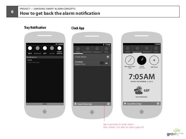 Samsung Smart Alarm UX