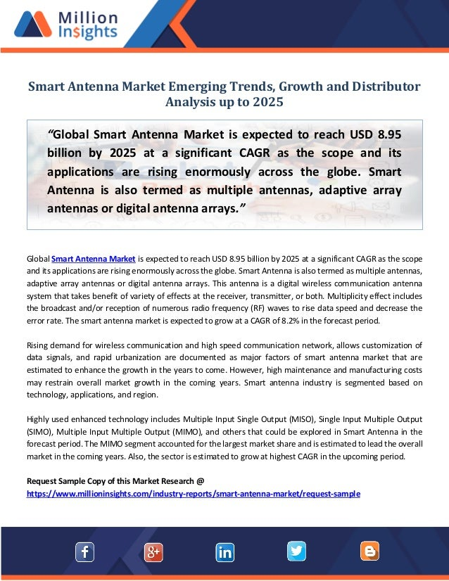 Smart antenna market emerging trends, growth and distributor