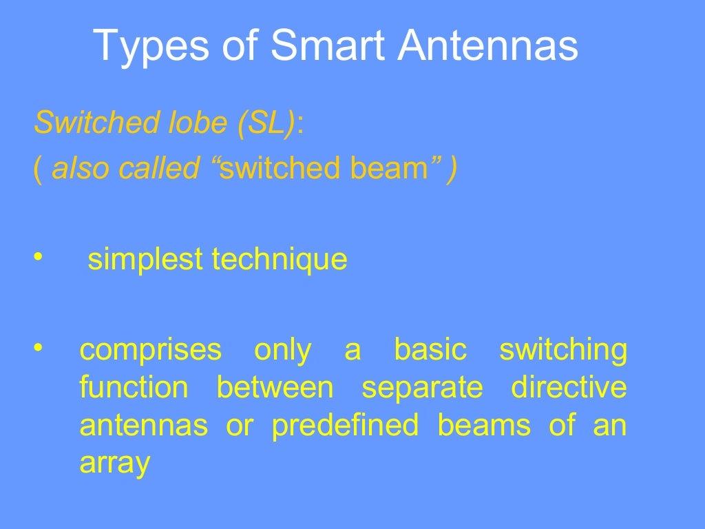 Ppt on smart antennas - Ppt On Smart Antennas 8