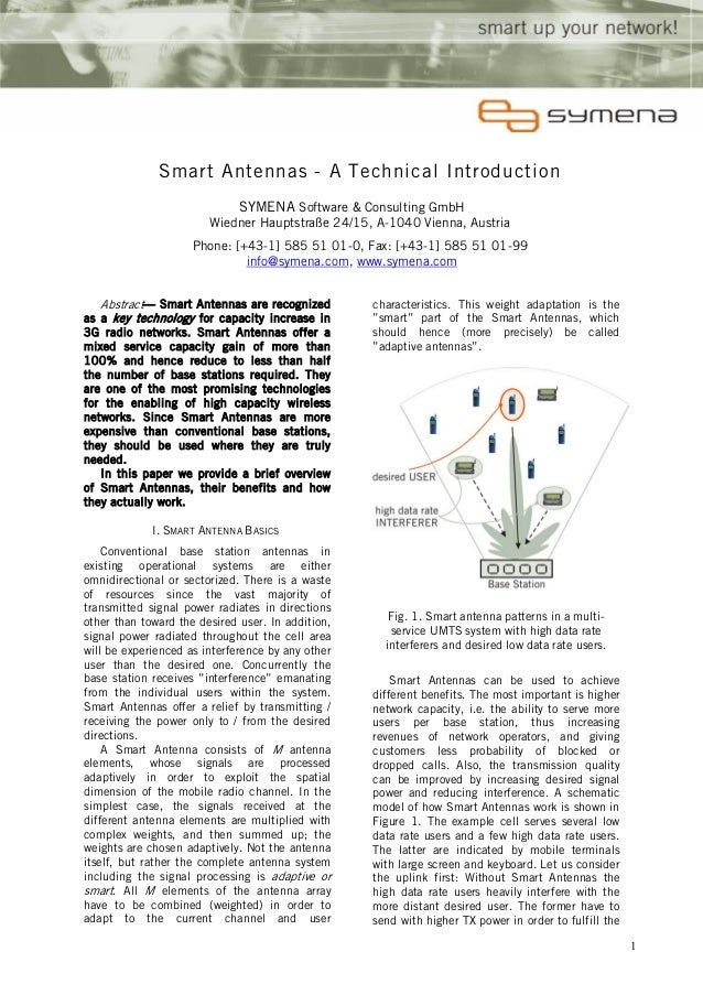 Smart Antennas - A Technical Introduction                              SYMENA Software & Consulting GmbH                  ...