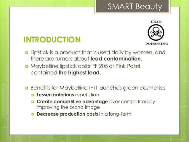 maketing objectives maybelline Since it began, innovation was at the heart of the company's strategy  then  maybelline (1994), jade in germany (1995), and the japanese brand shu  uemura.