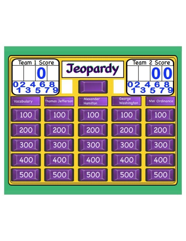 Smartboard jeopardy-template