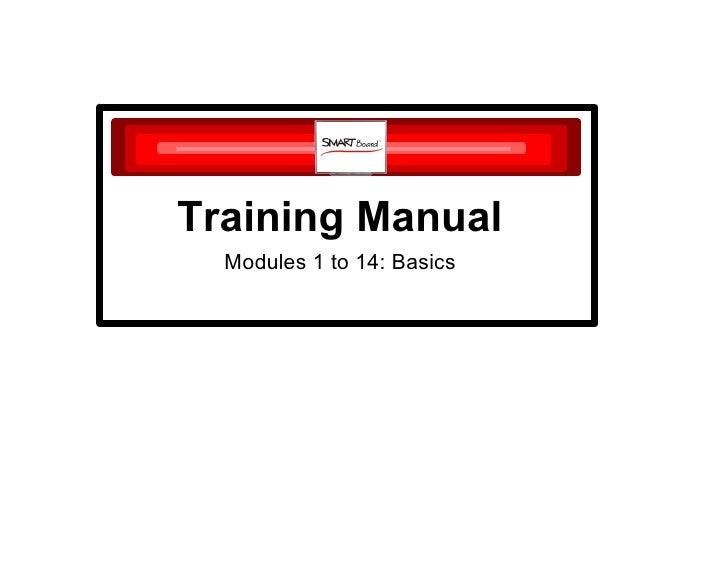 Training Manual Modules 1 to 14: Basics