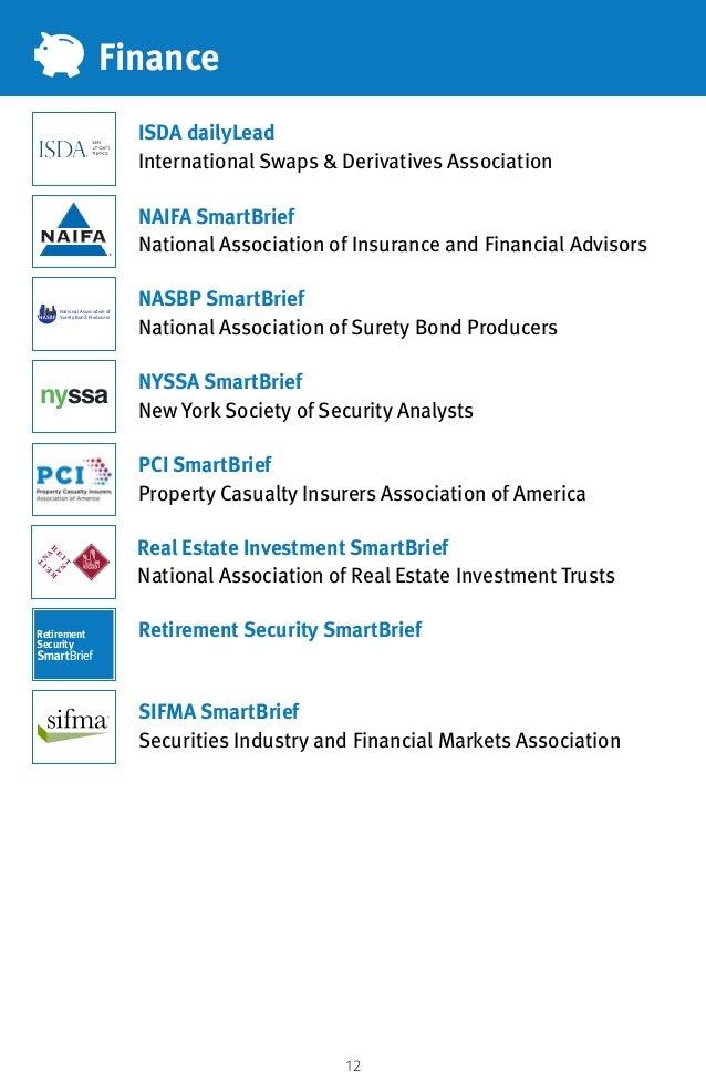 12 Finance ISDA dailyLead International Swaps  Derivatives Association NAIFA SmartBrief National Association of Insurance ...