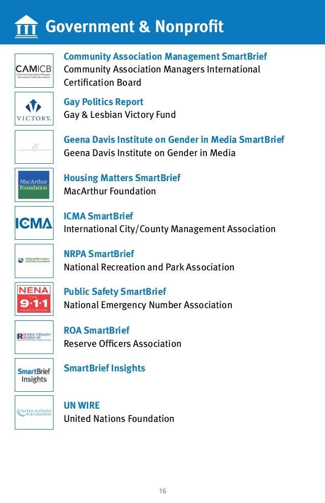 16 Government  Nonprofit Community Association Management SmartBrief Community Association Managers International Certific...