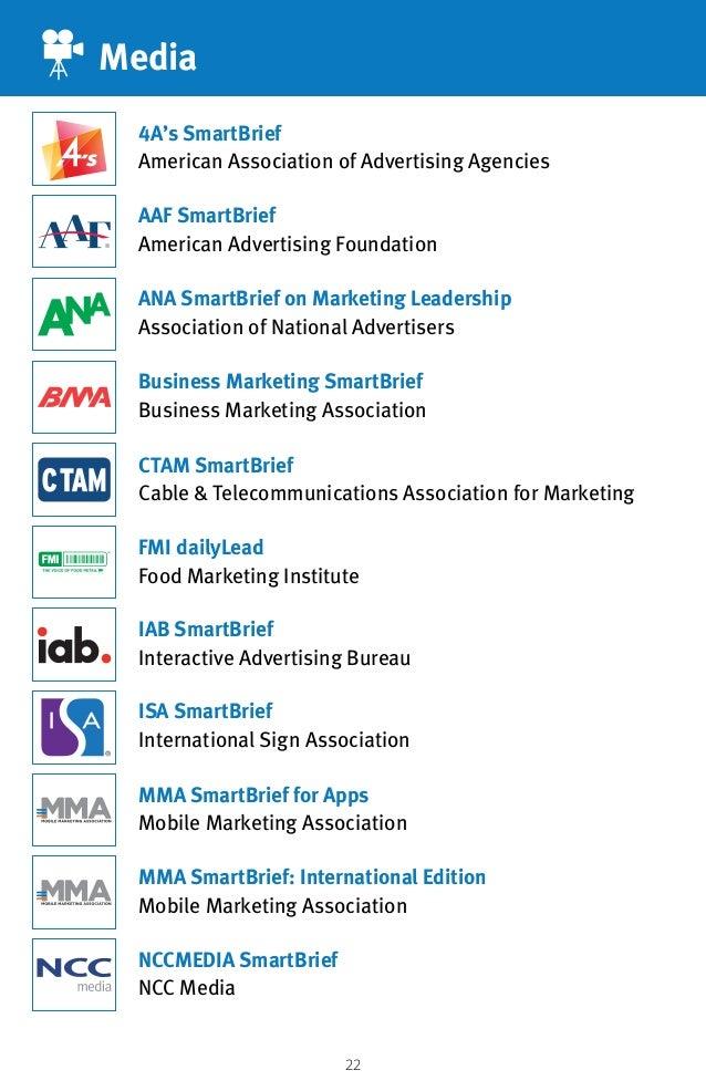 22 Media AAF SmartBrief American Advertising Foundation ISA SmartBrief International Sign Association 4A's SmartBrief Amer...
