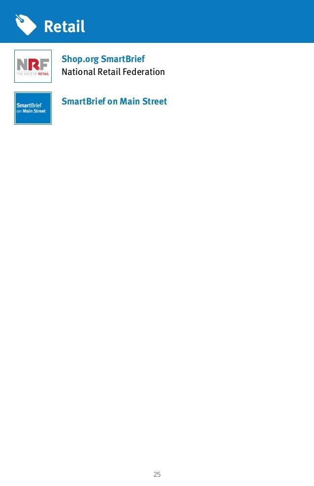 25 Retail Shop.org SmartBrief National Retail Federation SmartBrief on Main Street