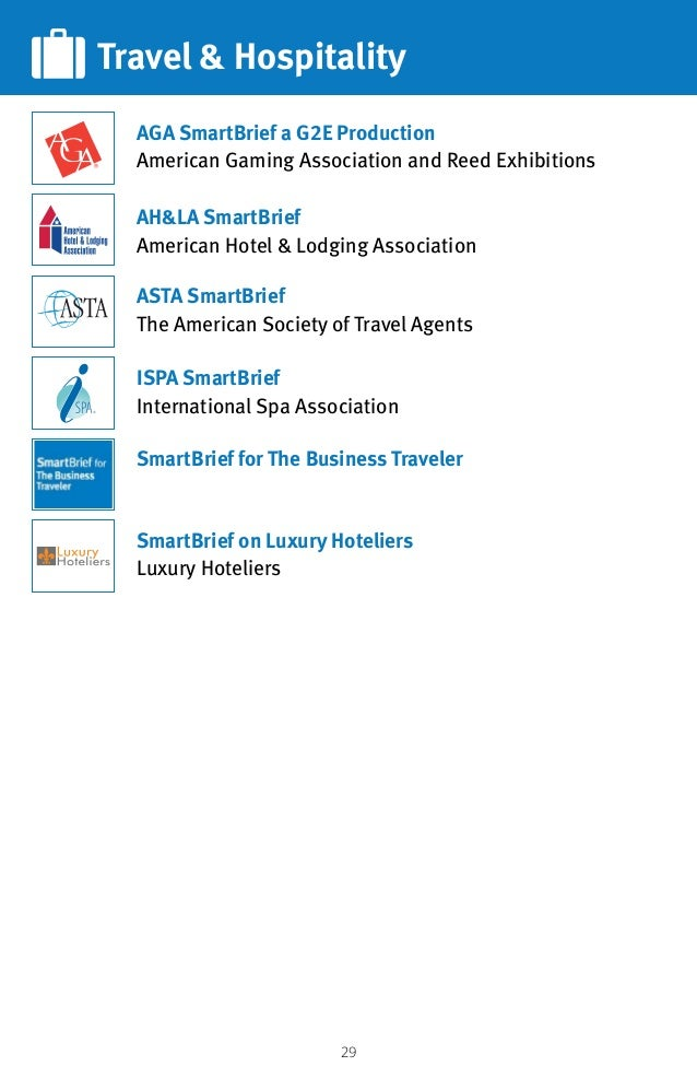 29 Travel  Hospitality AHLA SmartBrief American Hotel  Lodging Association SmartBrief on Luxury Hoteliers Luxury Hoteliers...