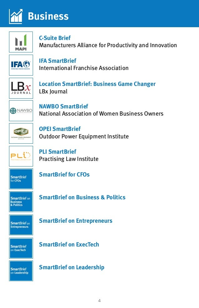 4 IFA SmartBrief International Franchise Association Business C-Suite Brief Manufacturers Alliance for Productivity and In...