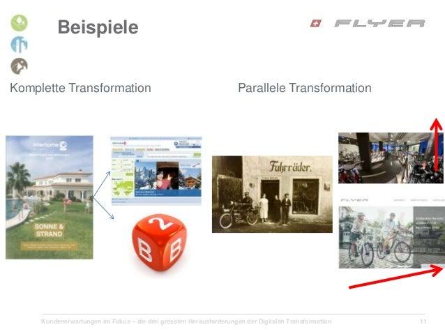 Kundenerwartungen im Fokus – die drei grössten Herausforderungen der Digitalen Transformation 11 Beispiele Komplette Trans...