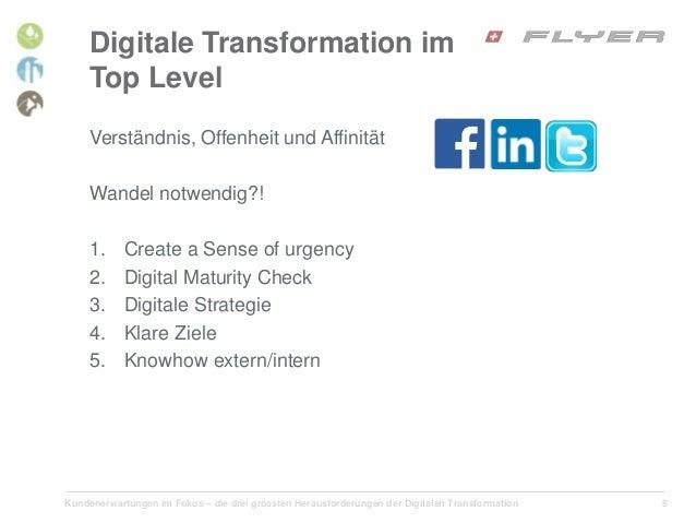 Kundenerwartungen im Fokus – die drei grössten Herausforderungen der Digitalen Transformation 8 Digitale Transformation im...