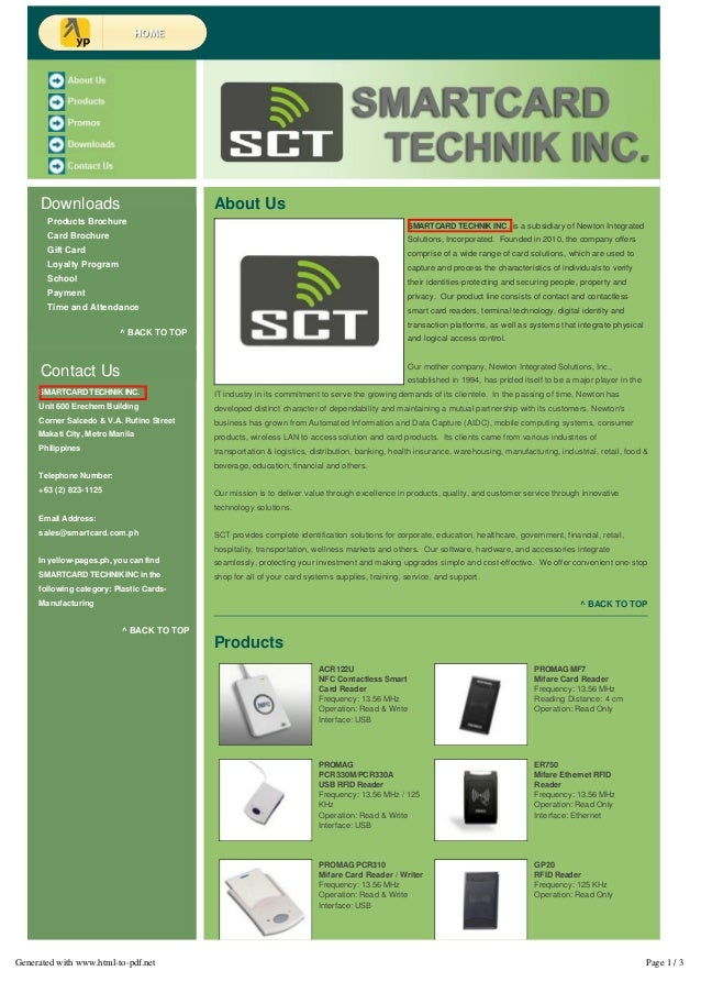 Smart Cards   RFID   Mifare Readers - Smartcard Technik Inc