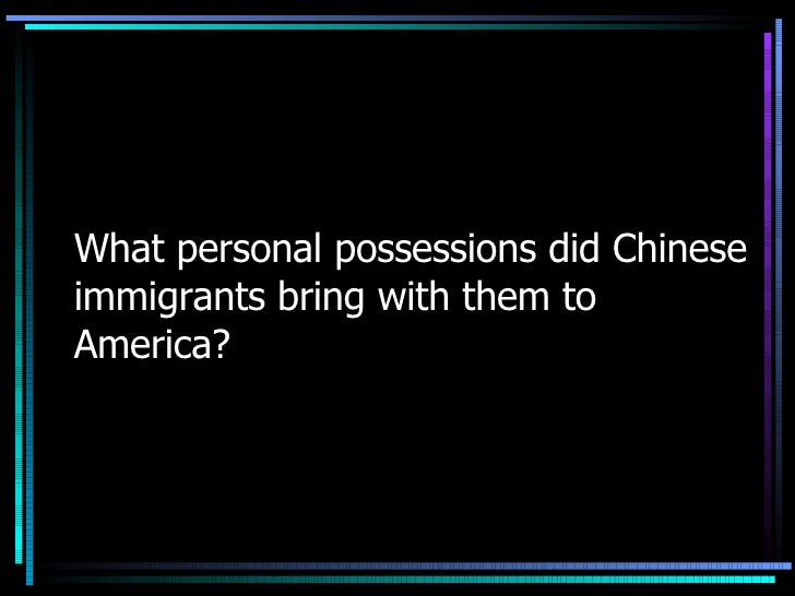 What Food Did Chinese Immigrants Bring To America