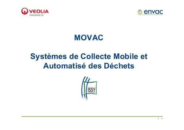 MOVACMOVAC Systèmes de Collecte Mobile et Automatisé des DéchetsAutomatisé des Déchets 1