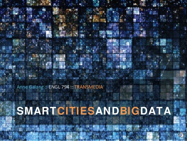Smart Cities And Big Data Research Presentation