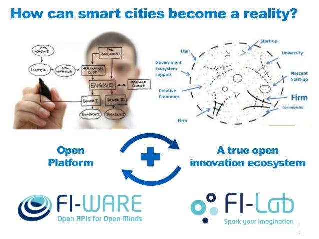 FI-WARE is helping create an ecosystem Streetlights Public transportation Parking Traffic Gardens Irrigation  Smartphone S...