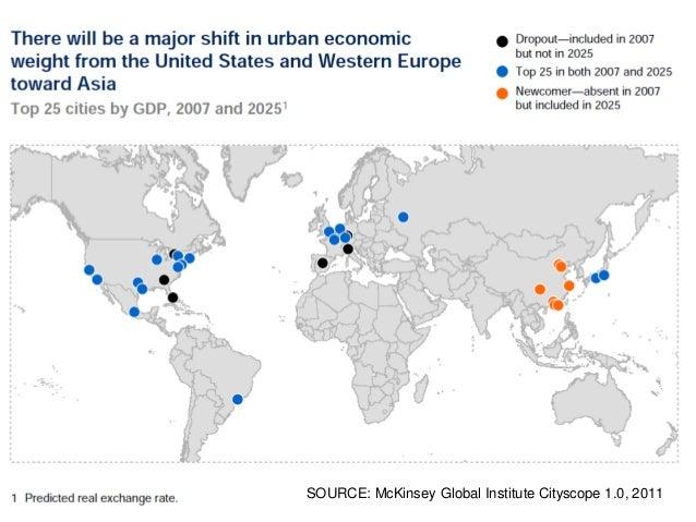 SOURCE: McKinsey Global Institute Cityscope 1.0, 2011