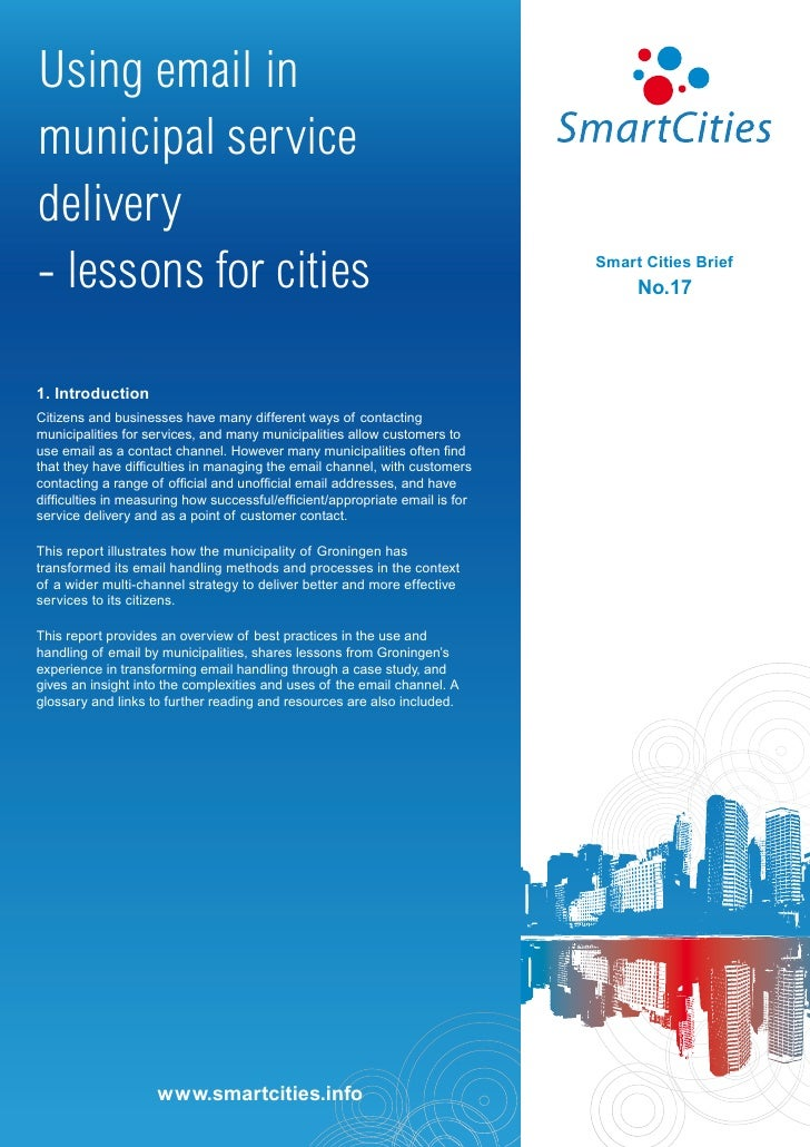 Using email inmunicipal servicedelivery- lessons for cities                                                          Smart...