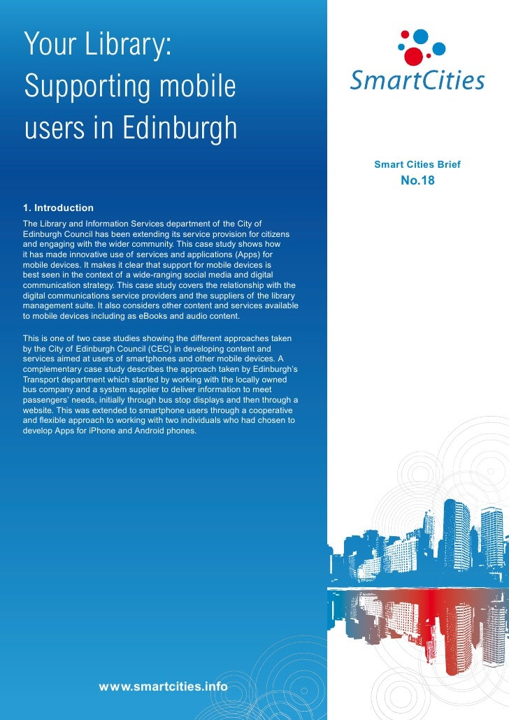 Your Library:Supporting mobileusers in Edinburgh                                                                          ...