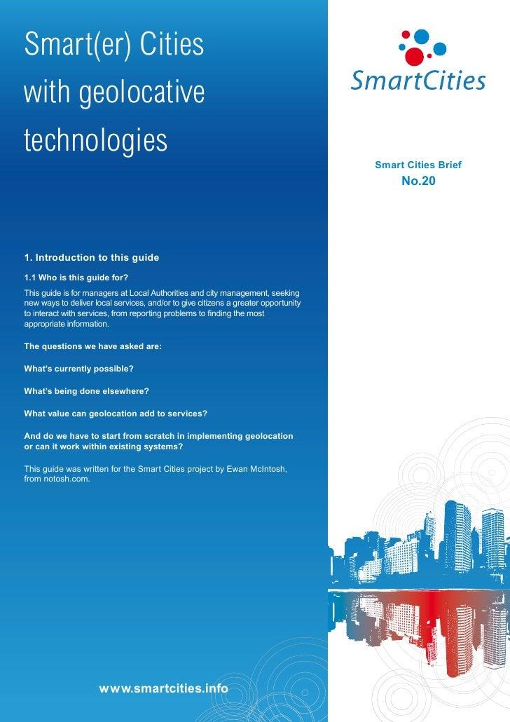Smart(er) Citieswith geolocativetechnologies                                                                              ...