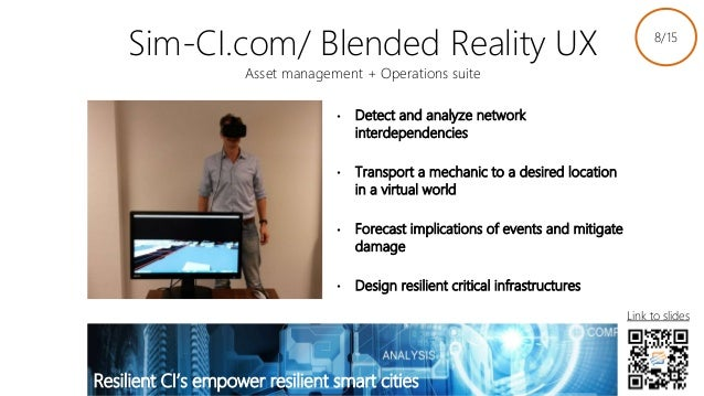 Sim-CI.com/ Blended Reality UX Asset management + Operations suite • Detect and analyze network interdependencies • Transp...