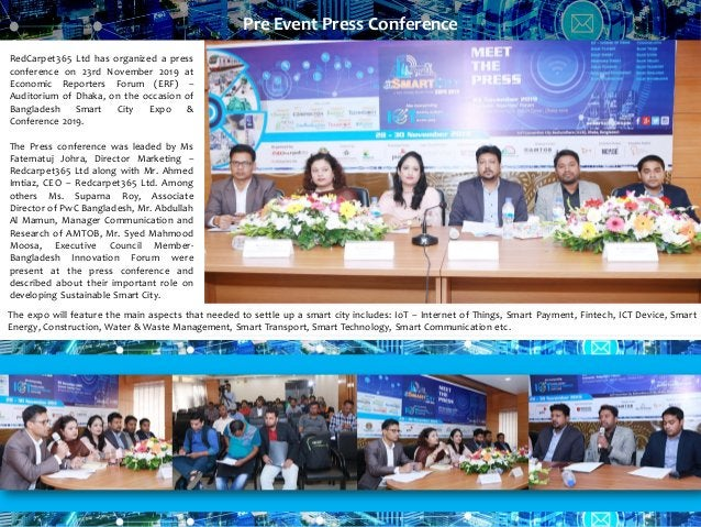 RedCarpet365 Ltd has organized a press conference on 23rd November 2019 at Economic Reporters Forum (ERF) – Auditorium of ...