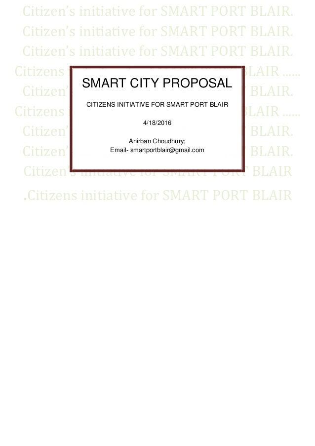 Citizen's initiative for SMART PORT BLAIR. Citizen's initiative for SMART PORT BLAIR. Citizen's initiative for SMART PORT ...