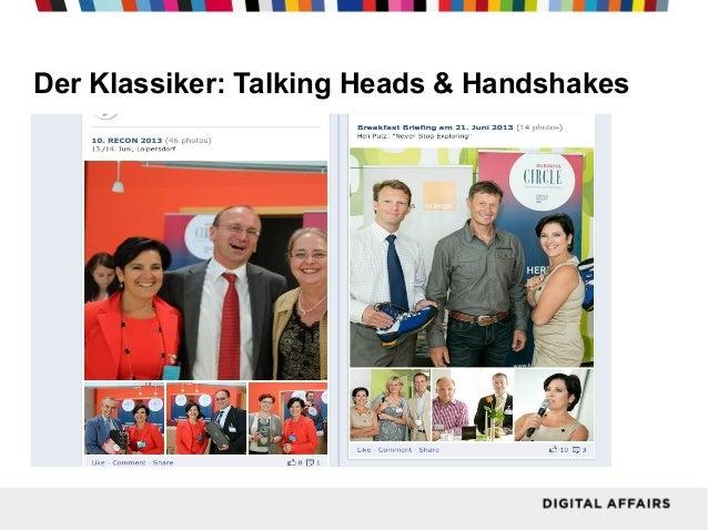 Der Klassiker: Talking Heads & Handshakes