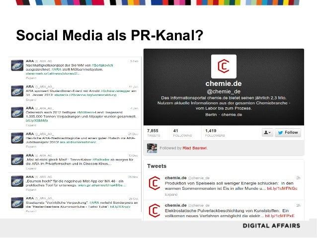 Social Media als PR-Kanal?