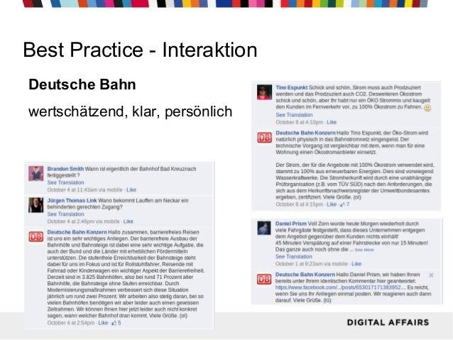 Best Practice - Interaktion Deutsche Bahn wertschätzend, klar, persönlich