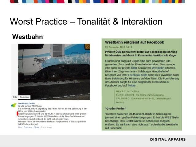 Worst Practice – Tonalität & Interaktion Westbahn