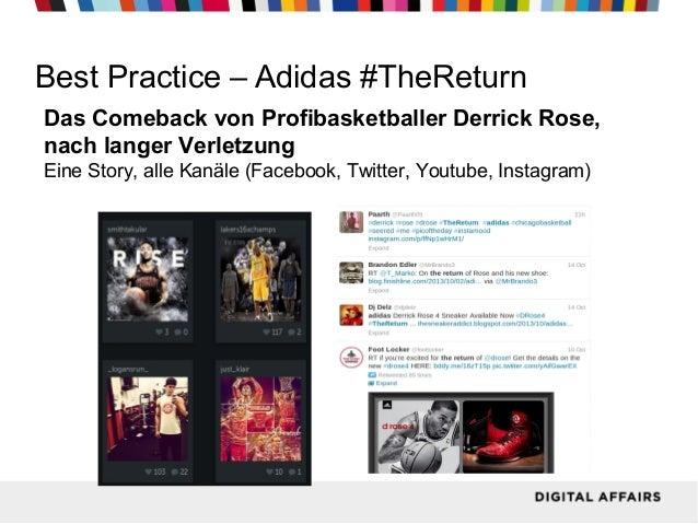 Best Practice – Adidas #TheReturn Das Comeback von Profibasketballer Derrick Rose, nach langer Verletzung Eine Story, alle...
