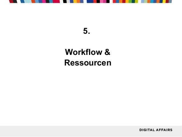 5. Workflow & Ressourcen