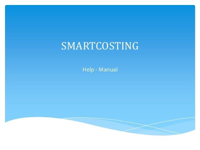 SMARTCOSTING   Help - Manual