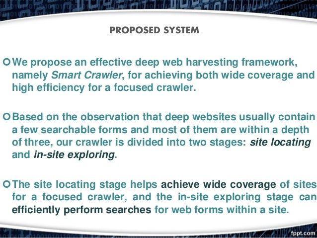Smart Crawlet A Two Stage Crawler For Efficiently