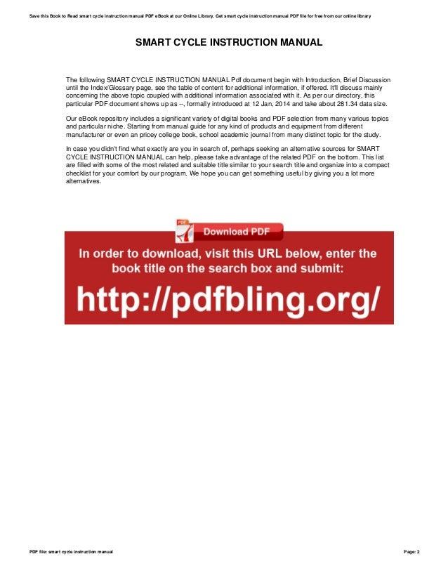 smart cycle instruction manual rh slideshare net Fisher-Price Smart Cycle Fisher-Price Smart Cycle Cord