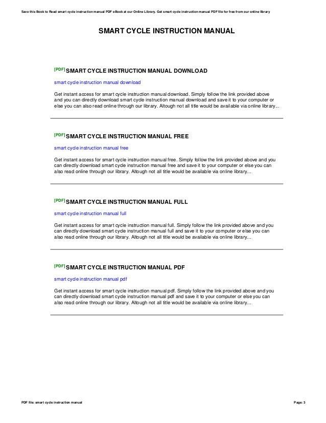 smart cycle instruction manual rh slideshare net Fisher-Price Smart Cycle Cord smart cycle extreme instruction manual