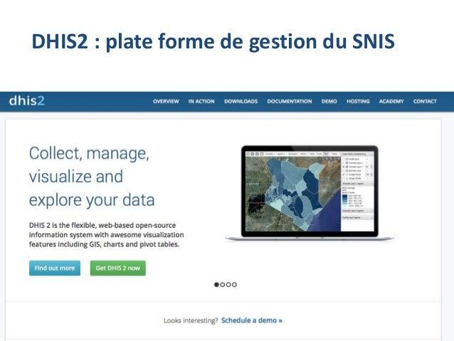 DHIS2 : plate forme de gestion du SNIS 4