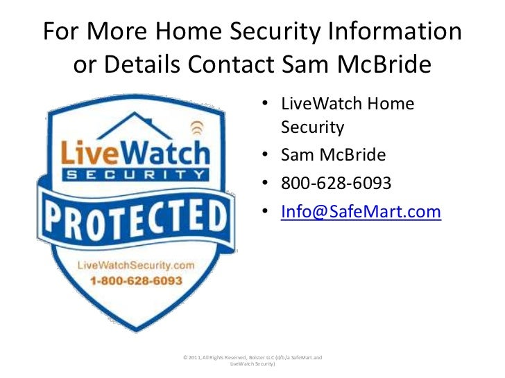 Best home security system SafeMart LiveWatch interactive smartphone i…