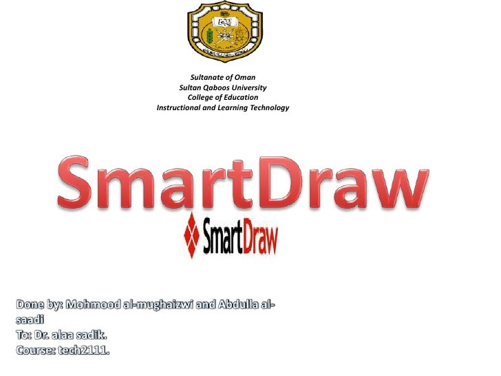 Sultanate of OmanSultan Qaboos UniversityCollege of EducationInstructional and Learning Technology <br />SmartDraw<br />Do...