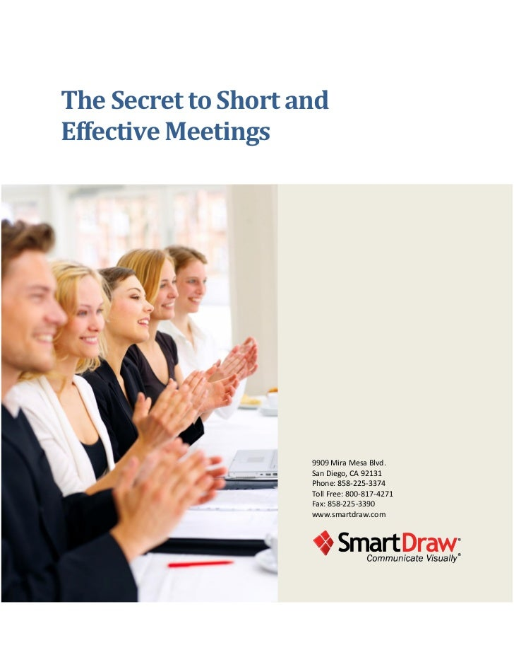 The Secret to Short andEffective Meetings                     9909 Mira Mesa Blvd.                     San Diego, CA 92131...