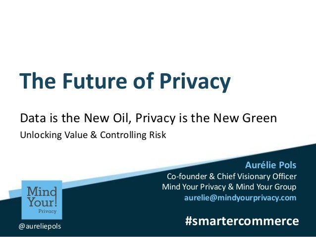 #smartercommerce Aurélie Pols Co-founder & Chief Visionary Officer Mind Your Privacy & Mind Your Group aurelie@mindyourpri...